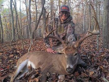 Austin Hanks of Reidsville arrowed this Rockingham County trophy during the final day of central muzzle-loader deer season.