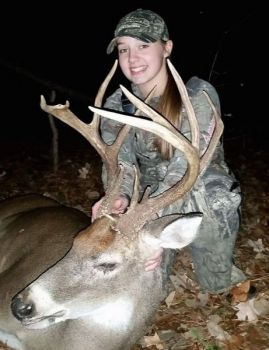 Haylie Richard killed this 144-inch brute in Granville County on Nov. 25, 2017.