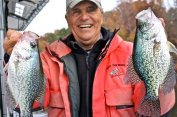 Guide Gus Gustafson said it takes a slow, meticulous presentation to catch Lake Norman crappie in January.