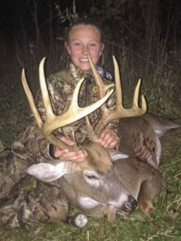 This trophy Guilford County buck is the sixth deer Taylor Apple has killed, and the fourth with the same muzzleloader.