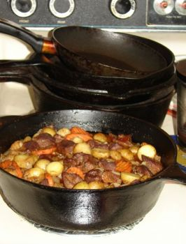 Stews are hearty meals that take the edge off the chill after a February day afield or in the boat. Using venison and blackening seasonings make for a great time at the table.