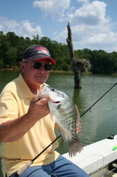 Guide Wendell Wilson catches Lake Russell crappie shallow and deep in March, when fish are moving in and out at different stages of the spawn.