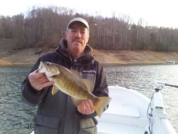Guide James McManus targets smallmouth bass on gravel and chunk-rock banks this month on Fontana  Lake.