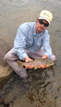Regan Norris caught this beautiful rainbow trout in the waters of South Carolina's Lower Saluda River.