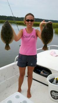 The Cherry Grove estuary just south of the North Carolina/South Carolina border is a great place to start out the spring season catching flounder.
