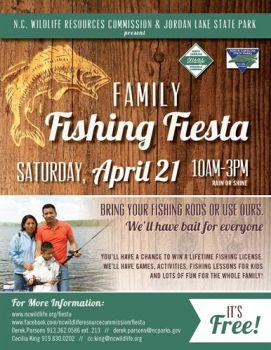 The Family Fishing Fiesta will be held April 21 at Jordan Lake.