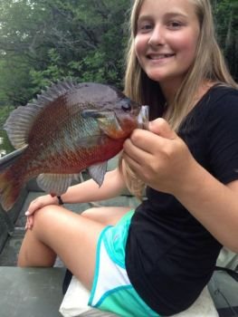 Blackwaters swamps and rivers are great spots to run into a handful of redbreast sunfish, which will likely be spawning this month.