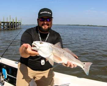 Stephen Fields likes to fish a lipless crankbait on the high end of the tide for redfish.