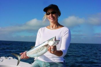 Conditions are perfect in June for Spanish mackerel to gang up off the beaches along North Carolina's southern coast.