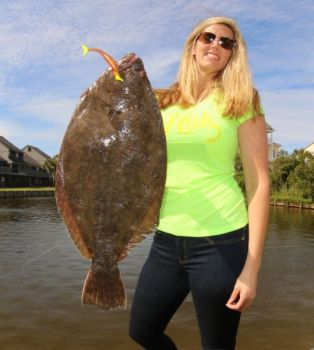Catching nice flounder while on vacation doesn't have to be an all-day affair, and you can often do it within sight of your vacation rental.