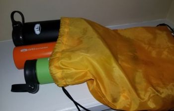 With no need for keeping water in a cooler, keep your insulated water bottles in a drawstring bag where they're easily accessible for use during summer fishing trips.