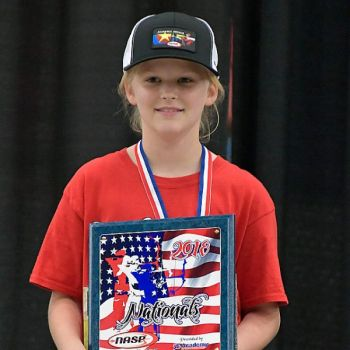 Natalie Bell finished first in the 2018 NASP tournament, and first in the 2018 Centershot Ministries tournament.