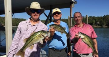 Spotted bass are the main summer targets among Lake Keowee's bass, but you'd do better to fish during the week and avoid weekend boat traffic.