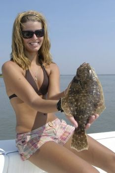 Flounder in the inshore waters around Morehead City, N.C., are a popular target during the summer.