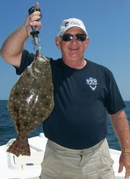 Reefs, wrecks and hardbottom areas off North Carolina's southern coast fill up with flounder in the summer.