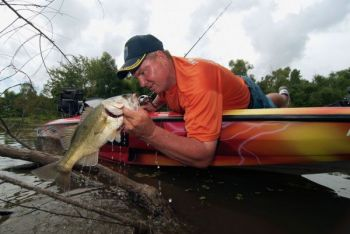 Moving water allows bass to live in more shallow water and feed more actively in the dead of summer, so  leaving the main body of a lake and heading upriver is a great idea.