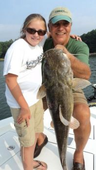 Guide Gus Gustafson loves to target flathead catfish on Lake Norman when August's heat wave arrives.