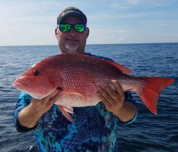 This angler shows off a nice red snapper he caught with Capt. Robert Olsen of Knot@Work Fishing Charters (843-442-7724).