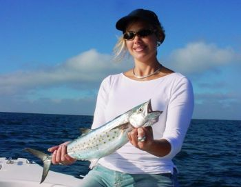 Live-bait rigs with smaller baits are great ways to catch Spanish mackerel on light tackle in the fall outside a handful of inlets along North Carolina's southeastern coast.