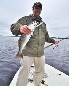 Topwater baits such as Zara Spooks account for plenty of speckled trout when the weather finally cools in September.