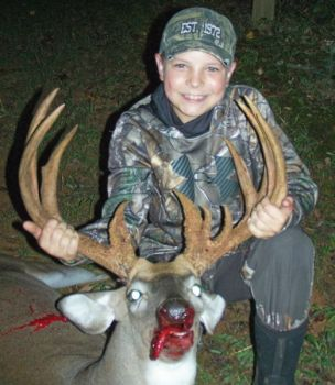 Elijah Evans, a sixth grader from Mebane, NC, killed this massive buck on Sept. 9, 2018 while hunting with his grandfather.