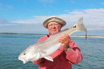 The late Bennett Kirkpatrick of Rock Hill, S.C., shows off the kind of redfish that the waters around Isle of Palms can produce.