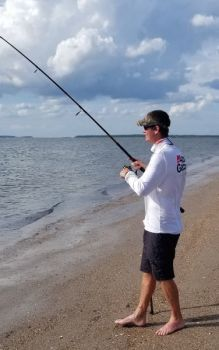 Paul Davis of Lexington enjoys fishing on Edisto Beach, but the Edisto Beach Town Council has proposed limiting surf fishing during the summer months.