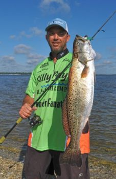 Guide Ricky Kellum believes New River speckled trout will bounce back quickly from the effects of Hurricane Florence.