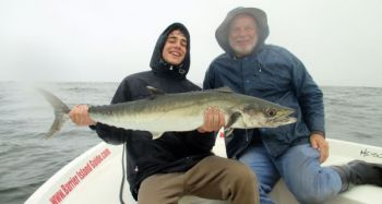 The waters off Georgetown, S.C., hold enough bait to attract big kings into late fall.