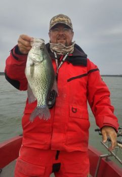 Guide Freddie Sinclair likes to tight-line for crappie on Jordan Lake throughout November.