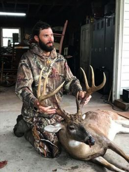 Preston Porter was on his way to refresh one of his corn piles when he encountered this trophy 8-point buck.