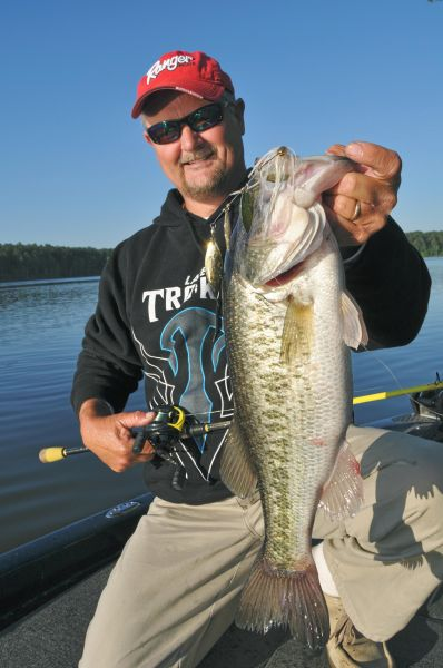 the best attitude c0249 4d7cf Jeffrey Thomas hitched this big Jordan Lake lunker to a spinnerbait last  April.