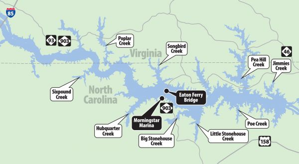 Gaston Nc Map.Lake Gaston Is A Great Fishery For Blue Catfish And June Is A Great