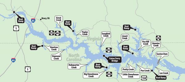 Gaston Nc Map.Prepare For The Winter Plan A Bass Fishing Trip To Lake Gaston