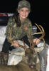 Mary-Katherine Tisdale was hunting with her father and sister when she killed this trophy buck she'd been pursuing for some time.